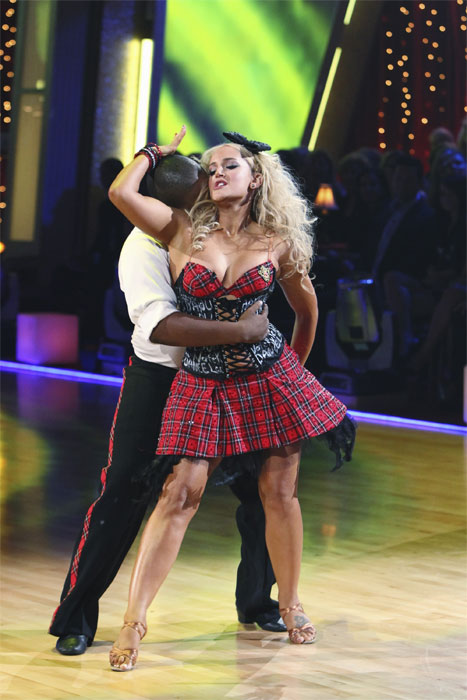Kyle Massey and Lacey Schwimmer perform on 'Dancing With the Stars,' Monday, Sept.  20, 2010. The judges gave the couple 23 points out of 30.