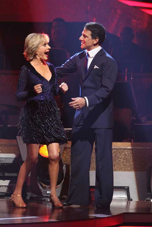 Florence Henderson and Corky Ballas react to being safe on 'Dancing With the Stars: The Results Show,' Tuesday, Sept.  21, 2010. The judges gave the couple 18 points out of 30.