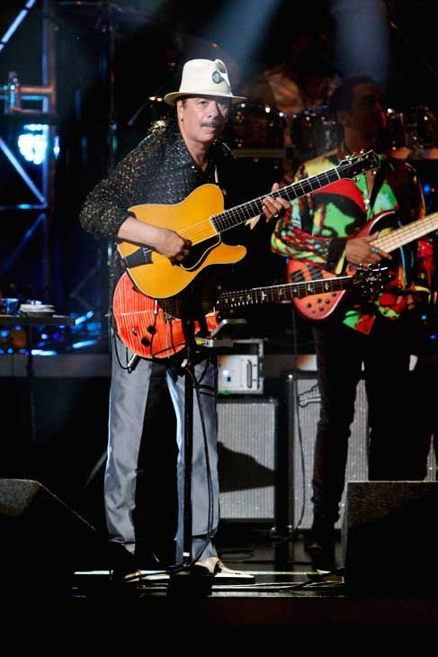 Santana, headed by guitarist Carlos Santana, performed with India.Arie on 'Dancing With the Stars: The Results Show,' Tuesday, Sept.  21, 2010.