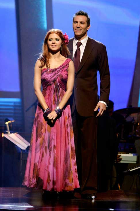 Kurt Warner and Anna Trebunskaya wait to hear their fate on 'Dancing With the Stars: The Results Show,' Tuesday, Sept. 21, 2010. The judges gave the couple 19 points out of 30.