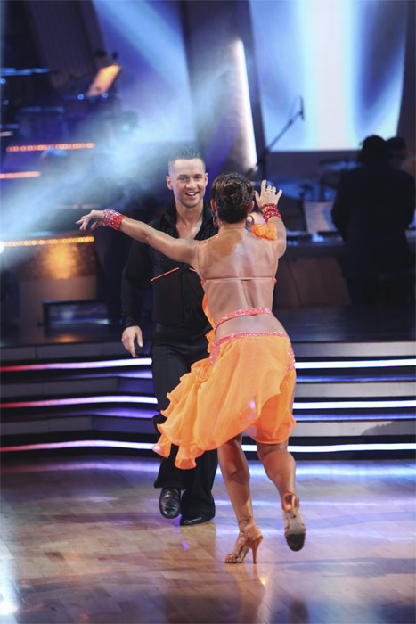 Mike &#39;The Situation&#39; Sorrentino and Karina Smirnoff perform on &#39;Dancing With the Stars,&#39; Monday, Sept.  20, 2010. The judges gave the couple 15 points out of 30. <span class=meta>(ABC Photo&#47; Adam Larkey)</span>