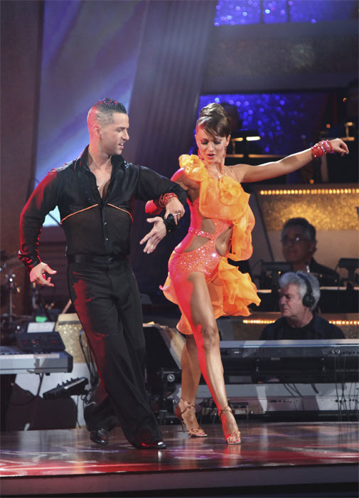 Mike 'The Situation' Sorrentino and Karina Smirnoff perform on 'Dancing With the Stars,' Monday, Sept.  20, 2010. The judges gave the couple 15 points out of 30.