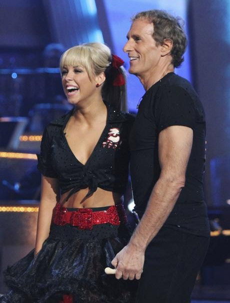 Michael Bolton and Chelsie Hightower perform on...