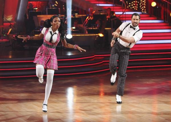 "<div class=""meta image-caption""><div class=""origin-logo origin-image ""><span></span></div><span class=""caption-text"">Brandy Norwood and Maksim Chmerkovskiy perform on 'Dancing With the Stars,' Monday, Sept. 27, 2010. The judges gave the couple 21 points out of 30. (ABC/ Adam Larkey)</span></div>"