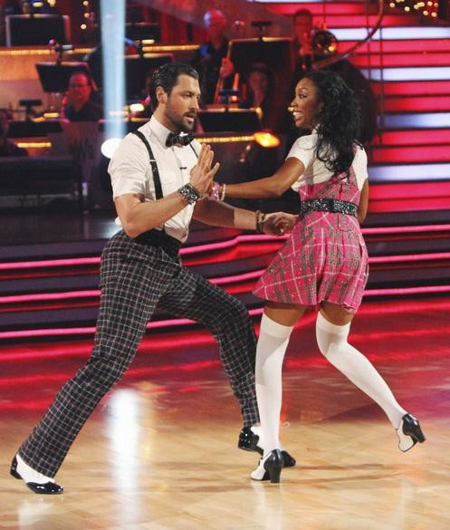 Brandy Norwood and Maksim Chmerkovskiy perform...