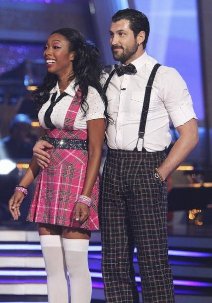 "<div class=""meta ""><span class=""caption-text "">Brandy Norwood and Maksim Chmerkovskiy perform on 'Dancing With the Stars,' Monday, Sept. 27, 2010. The judges gave the couple 21 points out of 30. (ABC/ Adam Larkey)</span></div>"