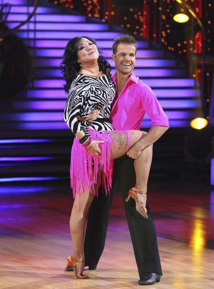 Comedian Margaret Cho and Louis Van Amstel perform on &#39;Dancing With the Stars,&#39; Monday, Sept. 27, 2010. The judges gave the couple 18 points out of 30. <span class=meta>(ABC&#47; Adam Larkey)</span>