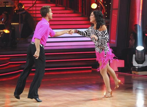 Comedian Margaret Cho and Louis Van Amstel perform on 'Dancing With the Stars,' Monday, Sept. 27, 2010. The judges gave the couple 18 points out of 30.