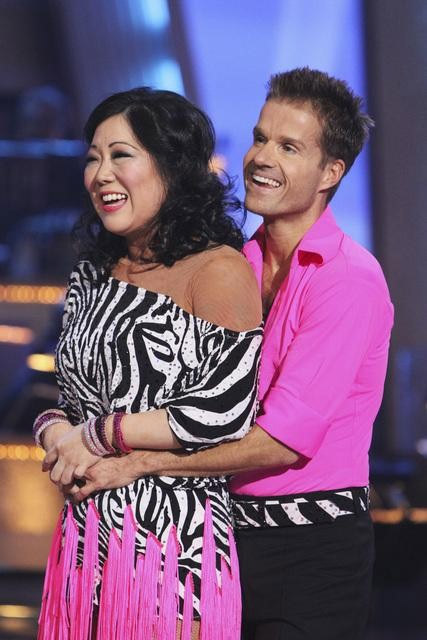 "<div class=""meta image-caption""><div class=""origin-logo origin-image ""><span></span></div><span class=""caption-text"">Comedian Margaret Cho and Louis Van Amstel perform on 'Dancing With the Stars,' Monday, Sept. 27, 2010. The judges gave the couple 18 points out of 30. (ABC/ Adam Larkey)</span></div>"