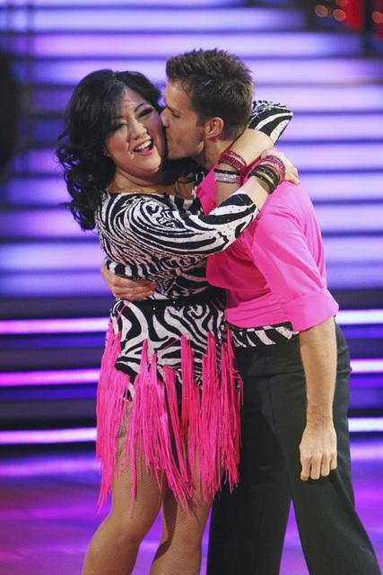 "<div class=""meta ""><span class=""caption-text "">Comedian Margaret Cho and Louis Van Amstel perform on 'Dancing With the Stars,' Monday, Sept. 27, 2010. The judges gave the couple 18 points out of 30. (ABC/ Adam Larkey)</span></div>"