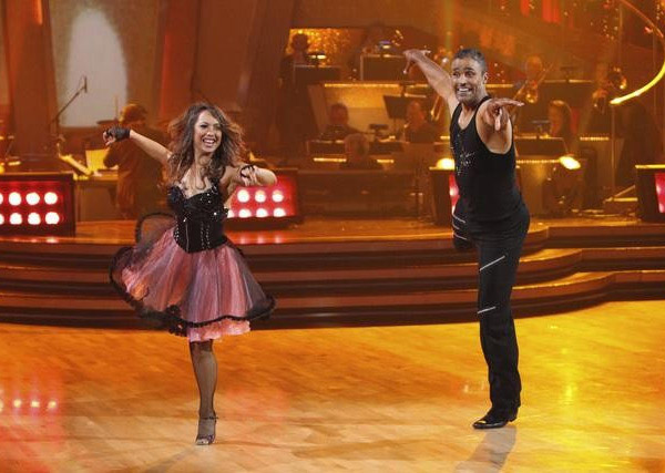 Rick Fox and Cheryl Burke perform on 'Dancing...