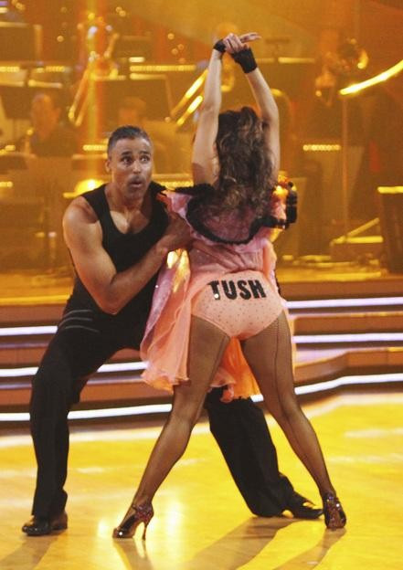 Rick Fox and Cheryl Burke perform on 'Dancing With the Stars,' Monday, Sept. 27, 2010. The judges gave the couple 21 points out of 30.