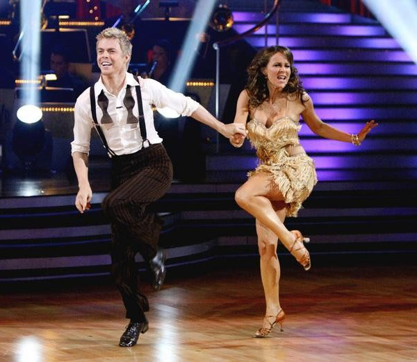 Jennifer Grey and Derek Hough perform on 'Dancing With the Stars,' Monday, Sept. 27, 2010. The judges gave the couple 24 points out of 30.