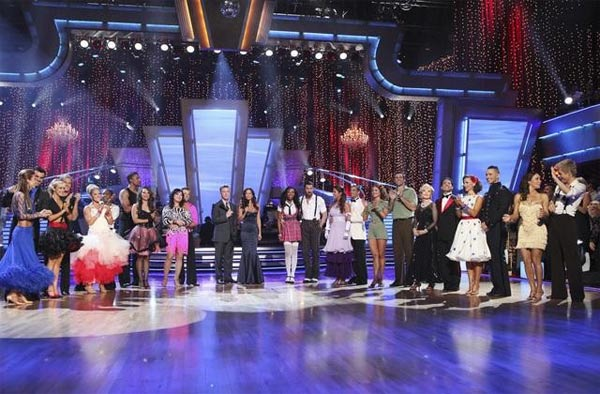 The 11 remaining couples are seen on 'Dancing...