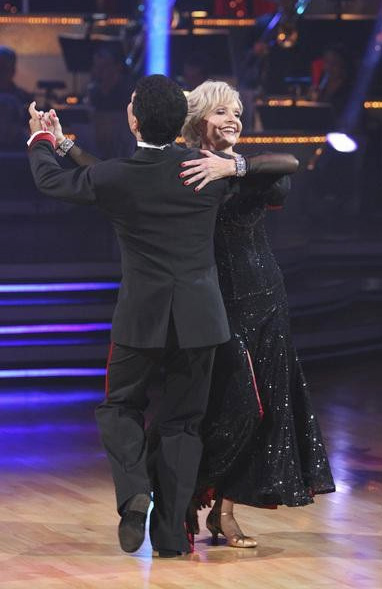 Florence Henderson and Corky Ballas perform on &#39;Dancing With the Stars,&#39; Monday, Sept. 27, 2010. The judges gave the couple 19 points out of 30. <span class=meta>(ABC&#47; Adam Larkey)</span>
