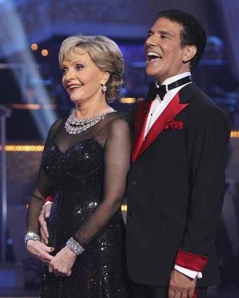"<div class=""meta ""><span class=""caption-text "">Florence Henderson and Corky Ballas perform on 'Dancing With the Stars,' Monday, Sept. 27, 2010. The judges gave the couple 19 points out of 30. (ABC/ Adam Larkey)</span></div>"