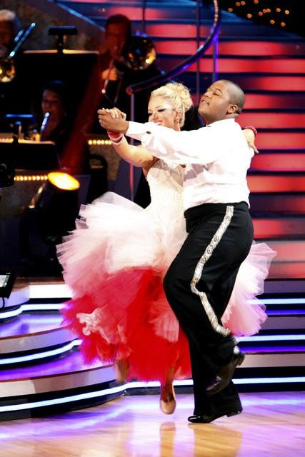 Kyle Massey and Lacey Schwimmer perform on &#39;Dancing With the Stars,&#39; Monday, Sept.  27, 2010. The judges gave the couple 22 points out of 30. <span class=meta>(ABC&#47; Adam Larkey)</span>