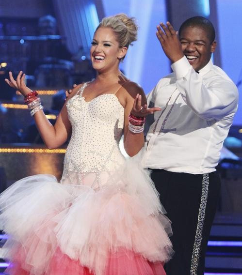 "<div class=""meta ""><span class=""caption-text "">Kyle Massey and Lacey Schwimmer perform on 'Dancing With the Stars,' Monday, Sept.  27, 2010. The judges gave the couple 22 points out of 30. (ABC/ Adam Larkey)</span></div>"