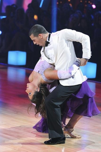 "<div class=""meta ""><span class=""caption-text "">Bristol Palin and Mark Ballas perform on 'Dancing With the Stars,' Monday, Sept. 27, 2010. The judges gave the couple 22 points out of 30. (ABC/ Adam Larkey)</span></div>"