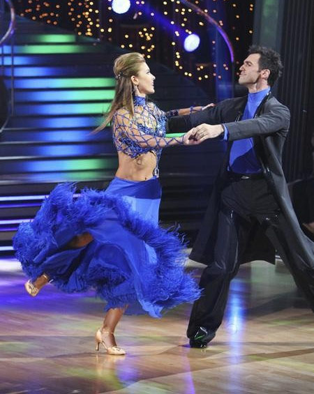 Audrina Patridge and Tony Dovolani perform on 'Dancing With the Stars,' Monday, Sept. 27, 2010. The judges gave the couple