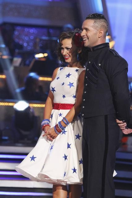 "<div class=""meta ""><span class=""caption-text "">Mike 'The Situation' Sorrentino and Karina Smirnoff perform on 'Dancing With the Stars,' Monday, Sept.  27, 2010. The judges gave the couple 18 points out of 30. (ABC/ Adam Larkey)</span></div>"