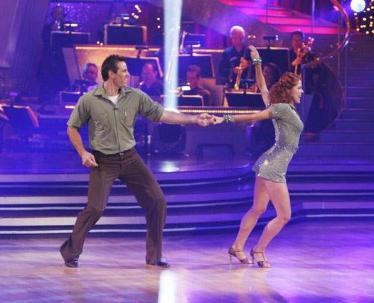 Kurt Warner and Anna Trebunskaya perform on 'Dancing With the Stars,' Monday, Sept. 27, 2010. The judges gave the couple 21 points out of 30.
