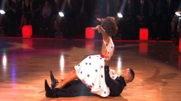 Mike &#39;The Situation&#39; Sorrentino and Karina Smirnoff perform on &#39;Dancing With the Stars,&#39; Monday, Sept.  27, 2010. The judges gave the couple 18 points out of 30. <span class=meta>(KABC Photo)</span>