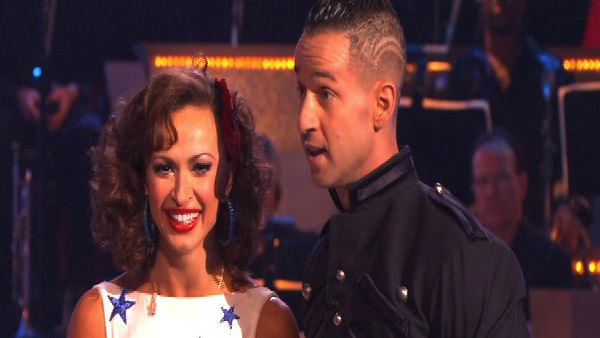 Mike 'The Situation' Sorrentino and Karina Smirnoff perform on 'Dancing With the Stars,' Monday, Sept.  27, 2010. The judges gave the couple 18 points out of 30.