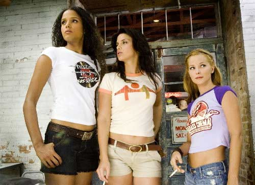 Sally Menke worked as a film editor in Quentin Tarantino&#39;s 2007 movie, &#39;Death Proof.&#39; Actresses Sydney Tamiia Poitier, Vanessa Ferlito and Jordan Ladd are shown in this scene. <span class=meta>(Photo courtesy of Dimension Films &#47; The Weinstein Company &#47; Troublemaker Studios &#47; Rodriguez International Pictures)</span>