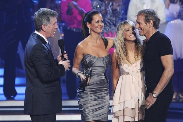 "<div class=""meta image-caption""><div class=""origin-logo origin-image ""><span></span></div><span class=""caption-text"">Michael Bolton and Chelsie Hightower say goodbye after being eliminated on 'Dancing With the Stars: The Results Show,' Tuesday, Sept. 28, 2010. The judges gave the couple 12 points out of 30. (Adam Larkey)</span></div>"