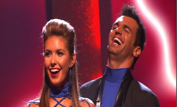 "<div class=""meta ""><span class=""caption-text "">Audrina Patridge and Tony Dovolani react to being safe on 'Dancing With the Stars: The Results Show,' Tuesday, Sept.  27, 2010. The judges gave the couple 23 points out of 30. (ABC Photo)</span></div>"