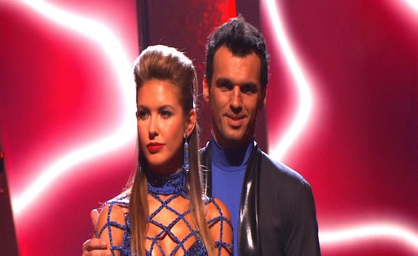 Audrina Patridge and Tony Dovolani wait to hear their fate on &#39;Dancing With the Stars: The Results Show,&#39; Tuesday, Sept. 28, 2010. The judges gave the couple 23 points out of 30. <span class=meta>(ABC Photo)</span>