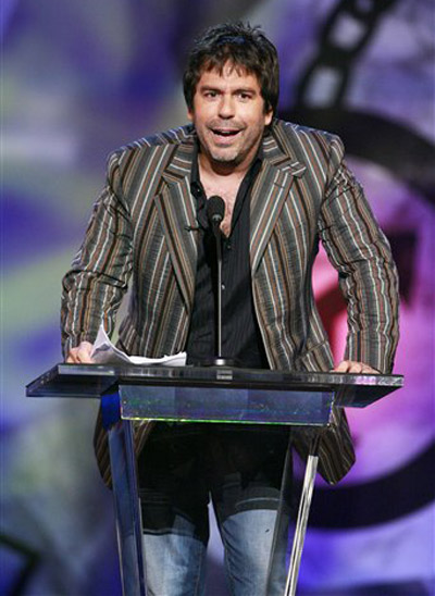 Comedian Greg Giraldo is seen onstage during the &#39;Comedy Central Roast of Flavor Flav&#39; in Burbank, Calif. on Sunday, July 22, 2007. Giraldo died Wednesday, Sept. 29, from an accidental prescription drug overdose. He was 44. <span class=meta>(AP Photo&#47; Matt Sayles)</span>