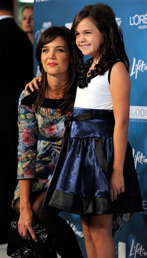 Actresses Katie Holmes, left, and Bailee Madison...