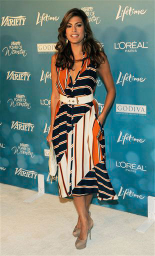 Eva Mendes arrives for Variety's 2nd Annual...