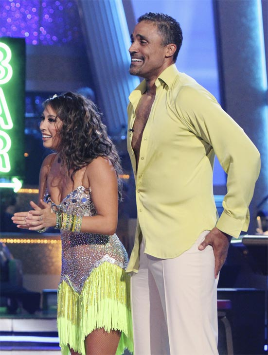 Rick Fox and Cheryl Burke perform on 'Dancing With the Stars,' Monday, Oct. 4, 2010. The judges gave the couple 24 points out of 30.