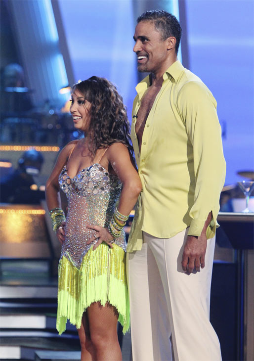 "<div class=""meta image-caption""><div class=""origin-logo origin-image ""><span></span></div><span class=""caption-text"">Rick Fox and Cheryl Burke perform on 'Dancing With the Stars,' Monday, Oct. 4, 2010. The judges gave the couple 24 points out of 30. (ABC Photo/ Adam Larkey)</span></div>"