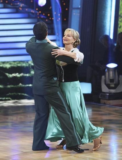 Florence Henderson and Corky Ballas perform on 'Dancing With the Stars,' Monday, Oct. 4, 2010. The judges gave the couple 20