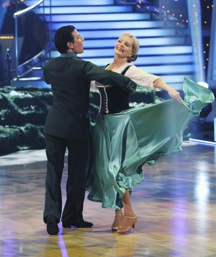 Florence Henderson and Corky Ballas perform on &#39;Dancing With the Stars,&#39; Monday, Oct. 4, 2010. The judges gave the couple 20 points out of 30. <span class=meta>(ABC Photo&#47; Adam Larkey)</span>