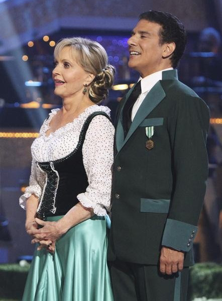 Florence Henderson and Corky Ballas perform on 'Dancing With the Stars,' Monday, Oct. 4, 2010. The judges gave th