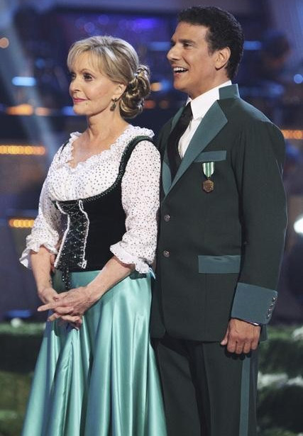 Florence Henderson and Corky Ballas perform on 'Dancing With the Stars,' Monday, Oct. 4, 2010. The jud