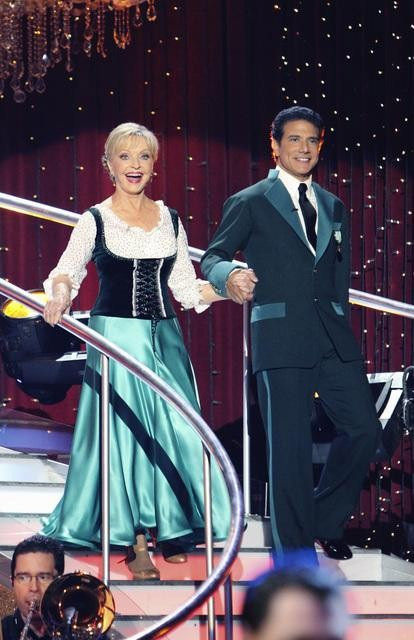 "<div class=""meta ""><span class=""caption-text "">Florence Henderson and Corky Ballas on 'Dancing With the Stars,' Monday, Oct. 4, 2010. The judges gave the couple 20 points out of 30. (ABC Photo/ Adam Larkey)</span></div>"
