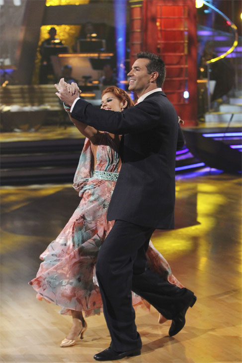 Kurt Warner and Anna Trebunskaya perform on 'Dancing With the Stars,' Monday, Oct. 4, 2010. The judges gave the couple 23 points out of 30.