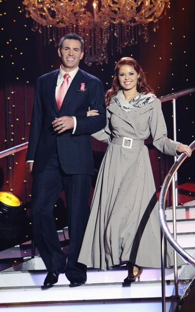 Kurt Warner and Anna Trebunskaya on 'Dancing With the Stars,' Monday, Oct. 4, 2010. The judges gave the couple 23 points out of 30.