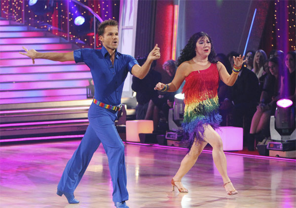 Margaret Cho and Louis van Amstel perform on &#39;Dancing With the Stars,&#39; Monday, Oct. 4, 2010. The judges gave the couple 18 points out of 30. <span class=meta>(ABC Photo&#47; Adam Larkey)</span>