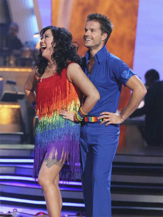 Margaret Cho and Louis van Amstel perform on 'Dancing With the Stars,' Monday, Oct. 4, 2010. The judges gave the couple 18 points out of 30.