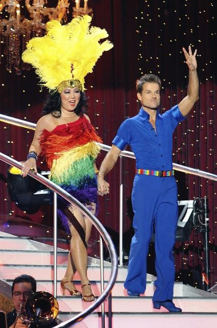 "<div class=""meta ""><span class=""caption-text "">Margaret Cho and Louis van Amstel on 'Dancing With the Stars,' Monday, Oct. 4, 2010. The judges gave the couple 18 points out of 30. (ABC Photo/ Adam Larkey)</span></div>"