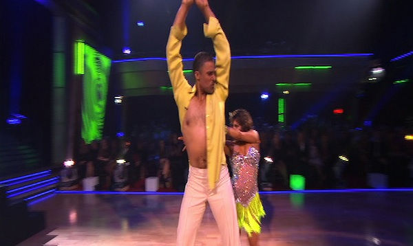 Rick Fox and Cheryl Burke perform on &#39;Dancing With the Stars,&#39; Monday, Oct. 4, 2010. The judges gave the couple 24 points out of 30. <span class=meta>(KABC Photo)</span>
