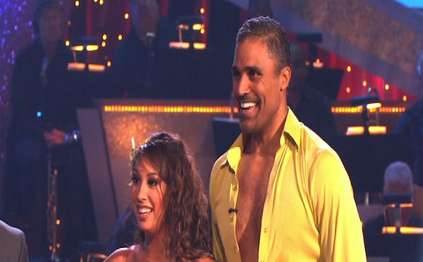 "<div class=""meta ""><span class=""caption-text "">Rick Fox and Cheryl Burke perform on 'Dancing With the Stars,' Monday, Oct. 4, 2010. The judges gave the couple 24 points out of 30. (KABC Photo)</span></div>"