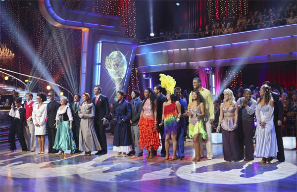 The 10 remaining couples are seen on 'Dancing...